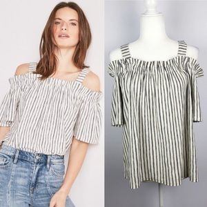 Lucky Brand   NWT New! Off Shoulder Stripe Top
